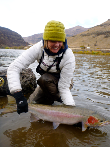 Lori-Ann with Spring Steelhead